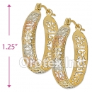 EH073 Gold Layered Two Tone Hoop Earrings