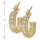 EH087 Gold Layered CZ Hoop Earrings