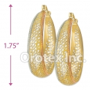 EH097 Gold Layered Tri-color Hoop Earrings