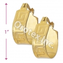 EH114 Gold Layered Hoop Earrings
