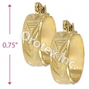 EH115 Gold Layered Hoop Earrings