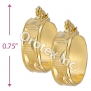 EH122 Gold Layered Hoop Earrings