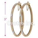 EH139 Gold Layered Tri-Color Hoop Earrings