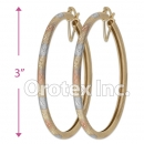 EH140 Gold Layered Tri-Color Hoop Earrings