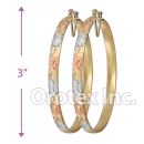 EH150 Gold Layered Tri-Color Hoop Earrings