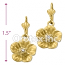 EL 273 Gold Layered CZ Long Earrings