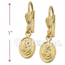 EL005 Gold Layered Long Earrings