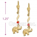 EL009 Gold Layered Long Earrings