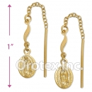 EL012 Gold Layered Long Earrings