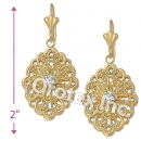 EL044 Gold Layered CZ Long Earrings