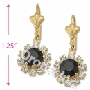 EL087 Gold Layered CZ Long Earrings