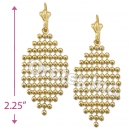 EL105 Gold Layered Long Earrings