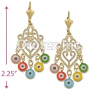 EL137 Gold Layered Long Earrings