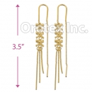 EL142C Gold Layered Long Earrings