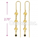 EL144C Gold Layered Long Earrings