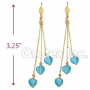 EL162 Gold Layered  Long Earrings