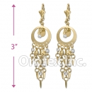 EL172 Gold Layered Pearl Long Earrings