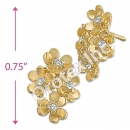 ES007 Gold Layered CZ Stud Earrings