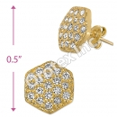 ES011 Gold Layered CZ Stud Earrings