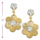 ES020 Gold Layered CZ Stud Earrings