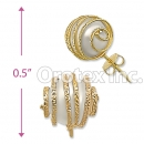 ES024 Gold Layered Pearl Stud Earrings