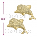 ES053 Gold Layered Stud Earrings