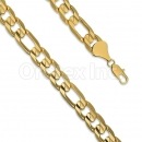 Orotex Gold Layered Figaro 3+1 Bracelet Gauge 350