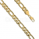 Orotex gold layered Figaro Yellow Pave 3+1 Bracelet Gauge 280