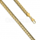 Orotex Gold Layered Cuban Yellow Pave Gauge 180