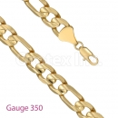GFC1-1 Gold Layered Figaro 3+1 Chain Gauge 350