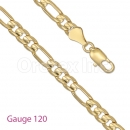 GFC1-5 Gold Layered Figaro 3+1 Chain Gauge 120