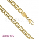 GFC2-4 Gold Layered Gucci Chain Gauge 150
