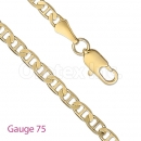 GFC2-6 Gold Layered Gucci Chain Gauge 075