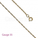 GFC3-9 Gold Layered Singapore Chain Gauge 035