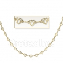 Orotex Gold Layered Fancy Heart Necklace