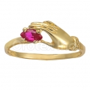 Orotex Gold Layered Ladies CZ Ring