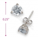Orotex Silver Layered Round Stud CZ Earring