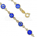 Orotex Gold Layered Blue Eye Bracelet