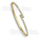 GLBN 002 Gold Layered CZ Cuff Bangle