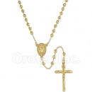 GLFN2-20 Gold Layered Diamond Cut  Rosary