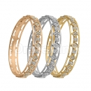 Indian Gold Plated Tri-color CZ Bangle