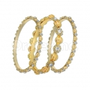 Indian Gold Plated Enamel CZ Bangle