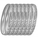 GLG1-52AS  6mm Silver Plated Laser Cut  Semanario Bangle