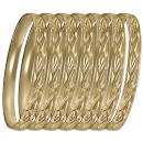 GLG1-52DG   6mm Gold Plated Laser Cut  Semanario Bangle