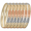GLG1-52E  6mm Laser Cut Tri-color Semanario Bangle