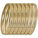 GLG1-52EG   6mm Gold Plated Laser Cut  Semanario Bangle