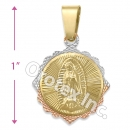 GLP 007 Gold Layered Tri-Color Charm