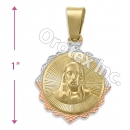 GLP 008 Gold Layered Tri-Color Charm