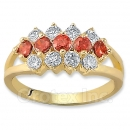 Orotex Gold Layered CZ Women's Ring