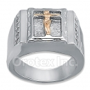 Orotex Silver Layered Two Tone Men's Ring